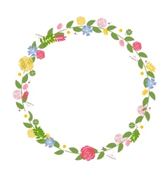 Floral Frame for Wedding and Birthday Card vector image