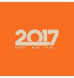 Happy new year 2017 lettering greeting card theme vector image