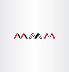 logo letter m set red black icon vector image vector image