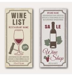 Wine Vertical Banners vector image vector image
