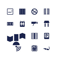13 area icons vector