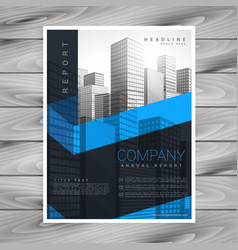 abstract dark business brochure design with space vector image