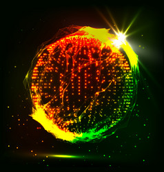 Abstract glowingh sphere futuristic vector
