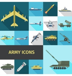 Army Icons Flat vector