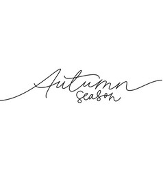 autumn season ink pen lettering vector image