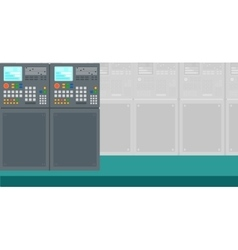 Background of industrial control system vector image