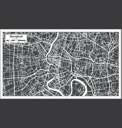 Bangkok thailand city map in retro style outline vector