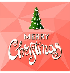 Beautiful Merry Christmas lettering vector image vector image