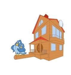 Birds and bird house deluxe vector image