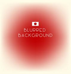 Blurred color japan flag background vector