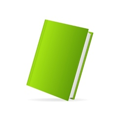 Book cover green perspective vector