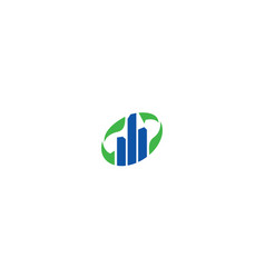building greening icon logo vector image