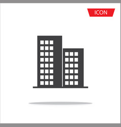 buildings icons isolated on white background vector image