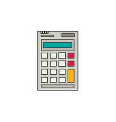Calculator flat style vector