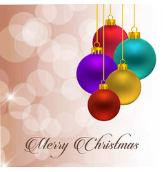 chrismtas balls with typography and light vector image