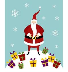 Christmas serie Happy Santa Claus on a snow vector