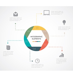 circle infographic Template vector image