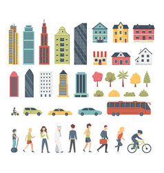 City constructor elements in cartoon style with vector