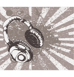 concert wallpaper with headphones vector image
