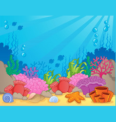 Coral reef theme image 4 vector