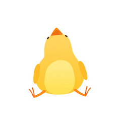 Cute bachicken sitting on floor and looking vector