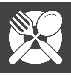 Cutlery and Plate vector image