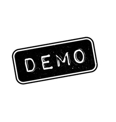 Demo rubber stamp vector image