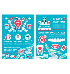 Dentistry and dental clinic design vector