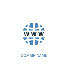 Domain name concept 2 colored icon simple blue vector