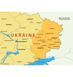 Donetsk and Lugansk regions of Ukraine - map vector image