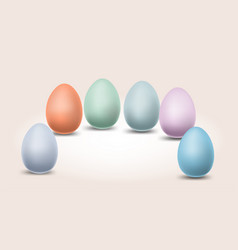 eggs pastel color happy easter with different vector image
