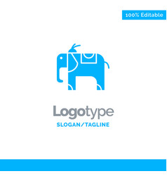 elephant animal blue business logo template vector image