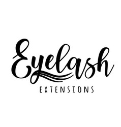 eyelash extension logo vector image