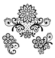 Floral retro lace pattern - valentines day vector