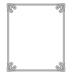 frame with heart-shaped figure vector image