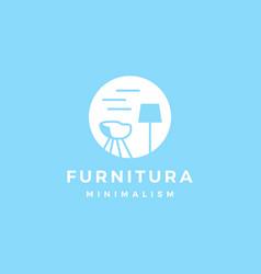 furniture interior logo icon vector image