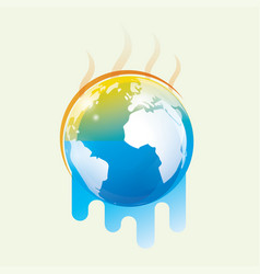Global warming stylized symbol vector