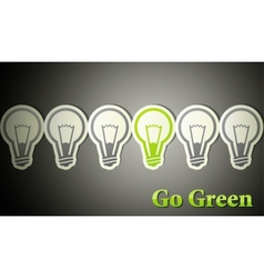 Go green eco concept vector