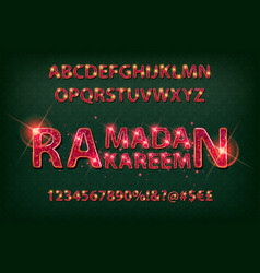 Golden english alphabet in islamic style vector