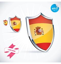 I Love Spain Flag vector image