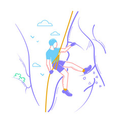 icon of a climber vector image