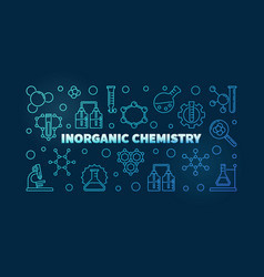 inorganic chemistry blue concept outline vector image