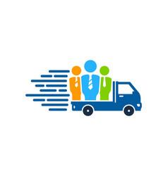 Job delivery logo icon design vector