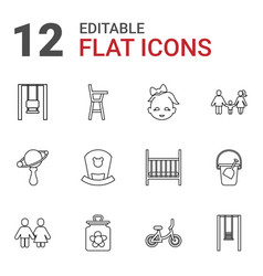 Kid icons vector
