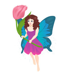 little fairy girl vector image
