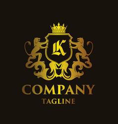 Luxury letter k logo vector