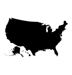 map united states america vector image