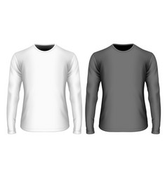 mens long sleeve black vector image