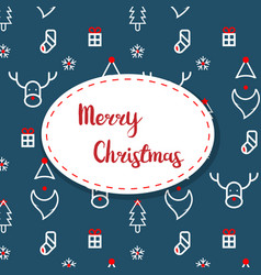 merry christmas decoration pattern vector image