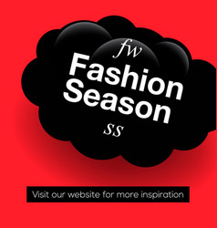 modern promotion web banner fashion season vector image